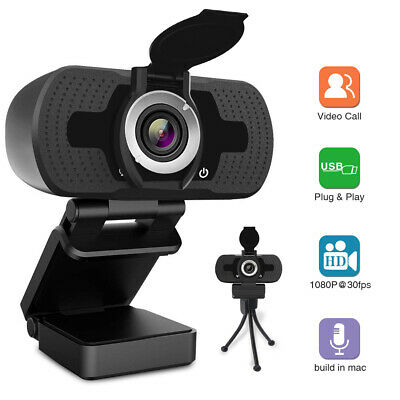 1080P USB Webcam with Mic PC Camera for Video Calling&Recording Video Conference