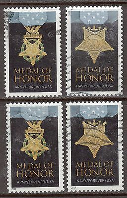 Scott #4822-23a Used Set of 4, Medal of Honor: WWII (Off Paper)