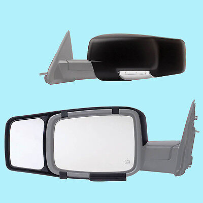 CLIP-ON TOWING MIRROR tow extension extend side rear view hauling for scio