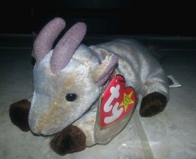 e6af4b9ea23 Ty Beanie Babies Goatee Rare 4 Errors PERFECT Condition Goat Error Farm  Animal