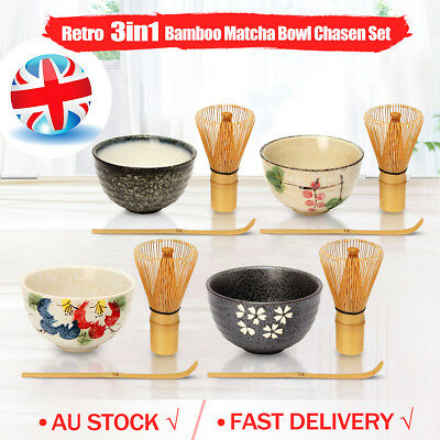 202+SOLD Japanese Tea Ceremony Matcha Whisk+ Chashaku Scoop+ Bowl Chasen Ceramic
