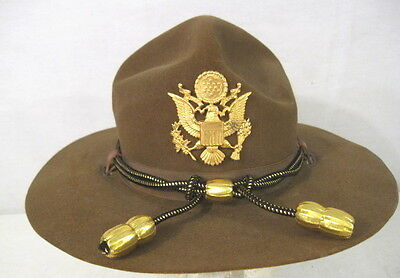 WWII US Army M1911 Montana Peak Campaign Hat - Officer's Hat Cords & Emblem #3
