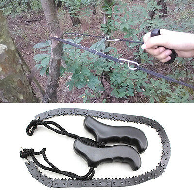 Practical Portable Chain Saw Outdoor Hiking Camping Pocket Chainsaw Hand Tool AL