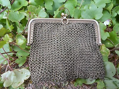 Vintage French Chatelaine Metal COIN PURSE