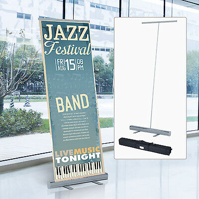 Banner Display Stand Exhibition Trade Show Lightweight Pull Roll Popup Aluminum