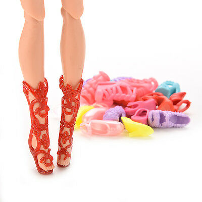 12 Pair Fashion Doll Shoes Heels Sandals For Barbie Dolls Outfit Dress BD