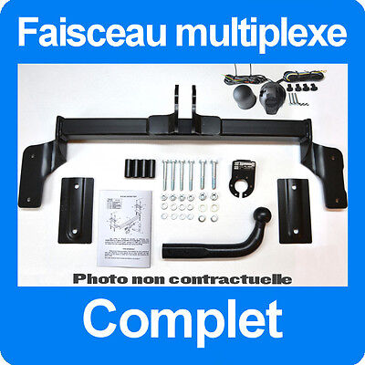 Opel Zafira 2005- B Attelage Demontable avec outils + Faisceau 7 broches
