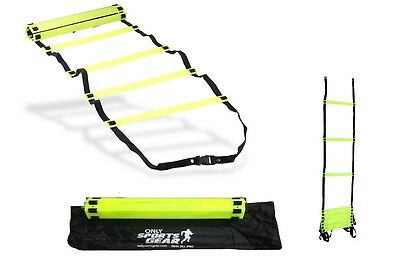OSG Agility Sports Training Speed Ladder Flat Rungs Fitness 2 Meter in Carry Bag