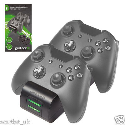 Gioteck Twin Charging Cradle & Battery Packs For Xbox One Wireless Controllers