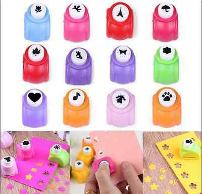 Kid Child Mini Printing Paper Hand Shaper Scrapbook Tags Cards Craft DIY Punch