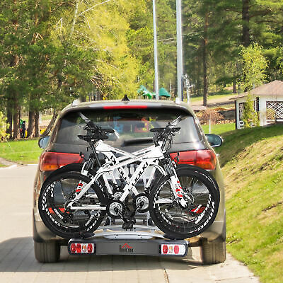 3 Bicycle Carrier Rear-mounted SUV Mountain Ride Hitch Towbar Mounted rack NEW