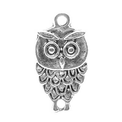 Packet of 15 x Antique Silver Tibetan 18mm Charms Pendants (Owl) ZX03935
