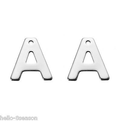 "30PCs Stainless Steel Smooth 26 Letters Alphabet /""G/"" Charms Pendants 11mmx10mm"