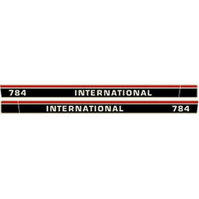 New 784 International Harvester Farmall Tractor Hood Decal Kit Quality Vinyl