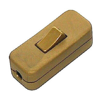 2amp 3 Core Plastic Gold Through Light Switch By Fairway Electricals