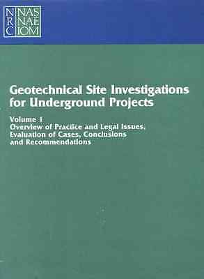 Geotechnical Site Investigations for Underground Projec - Paperback NEW Subcommi