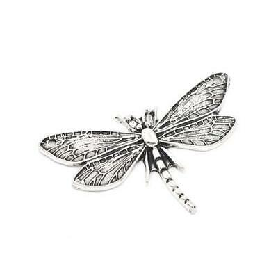 Packet 2 x Antique Silver Tibetan 49mm Dragonfly Charm/Pendant ZX03940