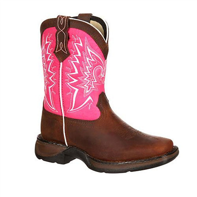 DWBT093 Lil' Durango Children's/Youth Let Love Fly Western Boot Brown & Pink NEW