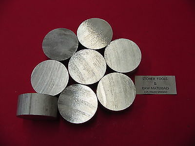 "8 Pieces 2"" ALUMINUM 6061 ROUND ROD 1"" long T6511 2.00 NEW Lathe Solid Bar Stock"