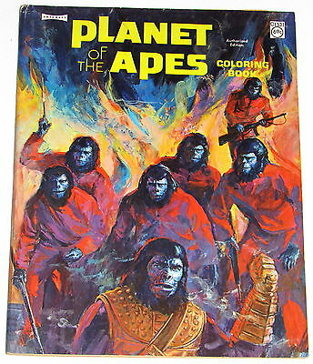 1960's PLANET OF THE APES COLORING BOOK----UNUSED AND CLEAN!!!!!!