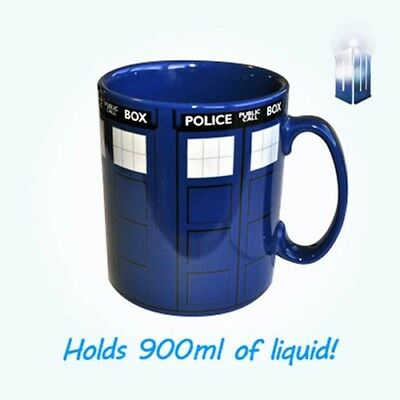 Doctor Dr Who Tardis Mega Mug NEW In Box, 9mL Big Large Coffee Tea Drink Cup