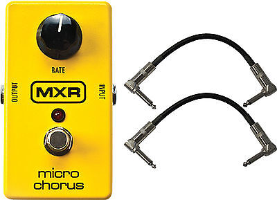 MXR by Dunlop M148 Micro Chorus Guitar Effects Pedal with 2 Cables!