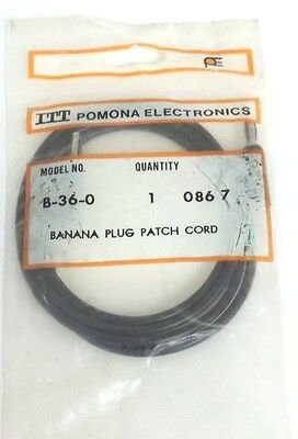 New Itt Pomona Electronics B-36-0 Banana Plug Patch Cord B360
