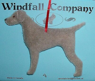 Weimaraner Dog Soft Plush Christmas Canine Ornament # 4 by WC