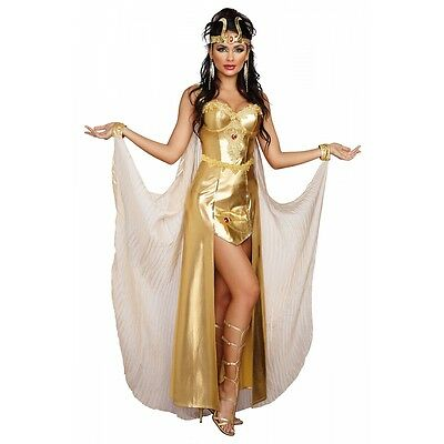 Egyptian Goddess Costume Adult Cleopatra Halloween Fancy Dress