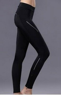 CHEJI Riding Women Cycling Tights 3D Padded Bicycle Trouser Bike Long Pant Black