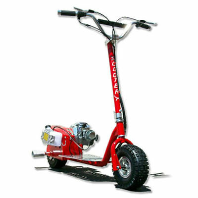 ScooterX Red Racing GO FAST Motor Scooter 49CC GAS Powered Big Power