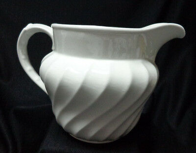 Burleigh Ware - White Scalloped Pitcher - Burgess & Leigh