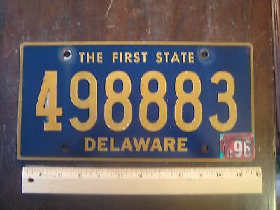 License Plate, Delaware, First St8, Triple 8: 49 888 3, Riveted Replacement Pl8