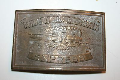 Vintage Tiffany & Co New York Wells Fargo & Co. Express Brass Belt Buckle Rare