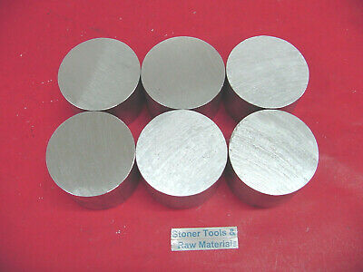 "6 Pieces 2"" ALUMINUM 6061 ROUND ROD 1"" long T6511 2.00 NEW Lathe Solid Bar Stock"