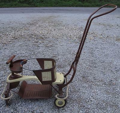 Vintage Brown Tailor Tot Stroller Walker
