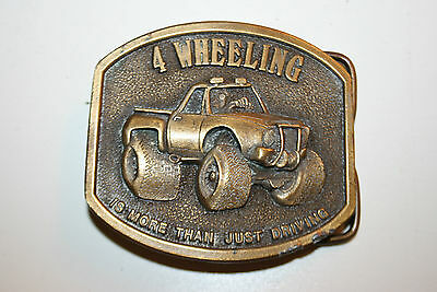 Original Vintage 4 Wheeling Its More Than Just Driving 1976 Brass Belt Buckle