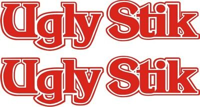 NEW PAIR OF UGLY STIK DECALS FISHING BOAT 500mm x 130mm