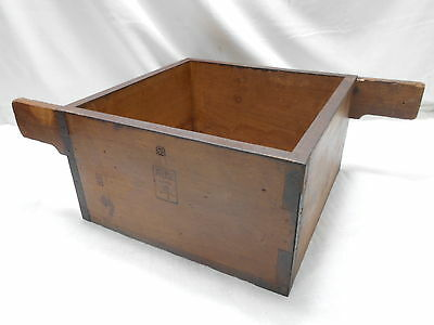 Collectable Square Vintage Japanese Rice Measure Bucket Sugi Wood #16