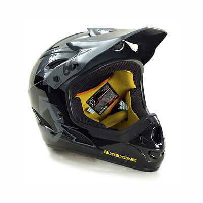 SixSixOne Comp Full Face Mountain Bike Helmet - 661 - Black / Charcoal