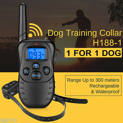 Rechargeable Waterproof Electric E-Collar Pet Dog Remote Shock Training Collar