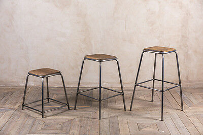 Industrial Style Bar Stool Various Heights And Colours Available Metal Seating