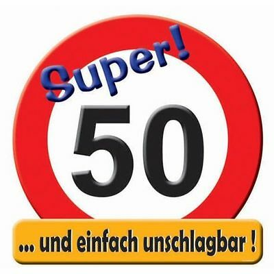 schild verkehrsschild zahl 50 50 geburtstag deko 50cm stra enschild wanddeko eur 3 99. Black Bedroom Furniture Sets. Home Design Ideas