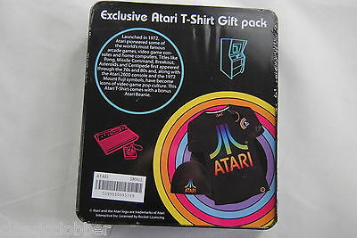 Atari Exclusive Gift Pack Tin Set New Official T Shirt Beanie Rare Video Game