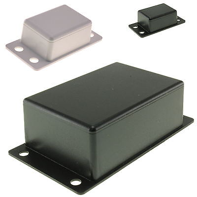 ABS Plastic Box with Mounting Flanges ALL SIZES for Electronics Hobby Projects