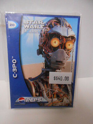 Star Wars Episode 1 rare Pepsi card set limited issue (only in Germany )