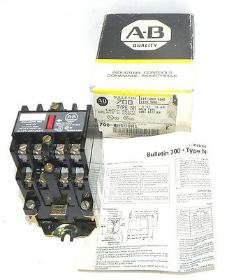 Nib Allen Bradley 700-Nm600A1 Latch Relay 700Nm600A1 Ser. E 95Ab86 Coil