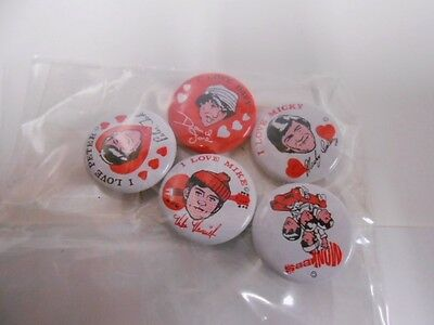 Monkees very rare 5 vintage pins set from 1960s