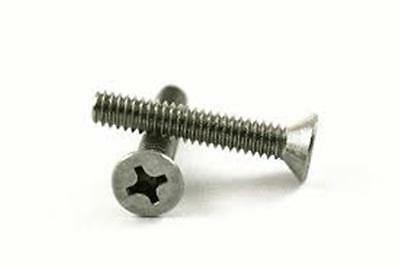 "Stainless Steel Flat Head Phillips Machine Screws #10-24 x 2"" Qty-25"