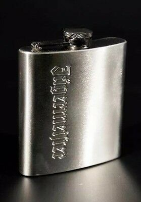 Jagermeister Jager Silver Brushed Steel Flask Thermos Container 6oz New